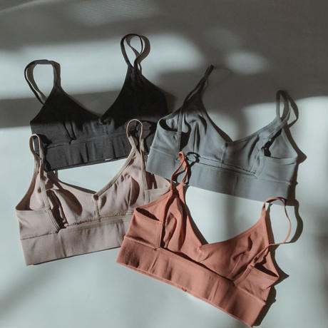 Stretch cotton bralette set up