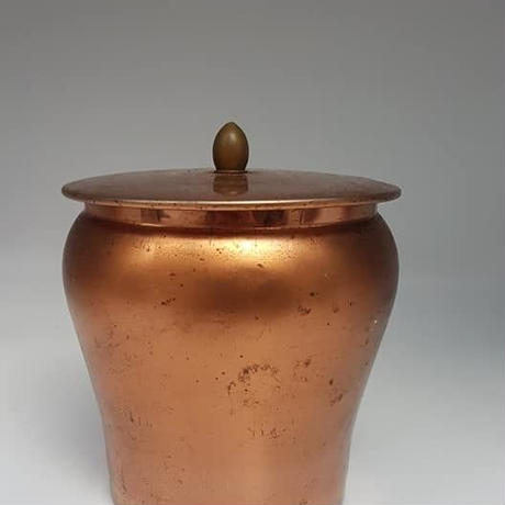 1950's ドイツTshibo製 コッパ―カラーのコーヒー缶 **傷アリ  BD013