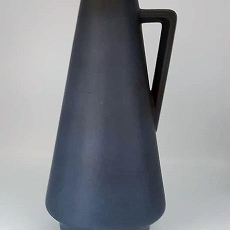 1960's 東ドイツIlkra keramik製 ブルーグレーベース  DK030