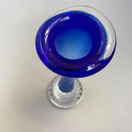 1960's~70's スウェーデンAseda社製 バブルグラスベース ブルー/GR154