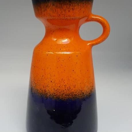 1960's~70's 西ドイツÜbelacker製 コバルトブルー×オレンジ マークロスコ風ベース *ヒビ有り    WK024
