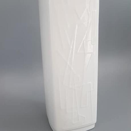 1960's~70's Gerold Porzellan製 OPアート 幾何学模様 ホワイトベース /WK198