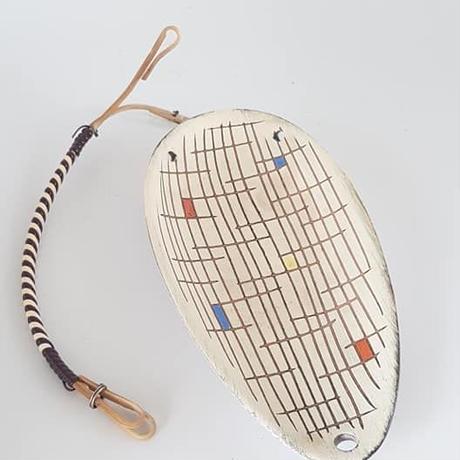 1950's Steuler社製 チェック柄のスモールベースとお皿セット/WK283 **取っ手に難あり