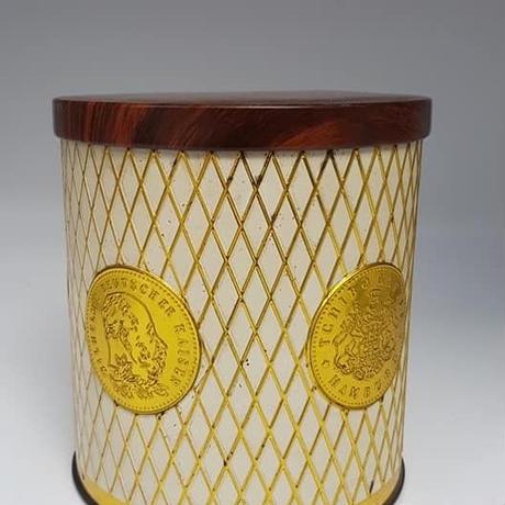 1960 ドイツ Tshibo製 コーヒー缶 木目調蓋  BD014