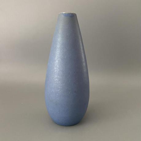 年代・メーカー不明 美しいライトブルーのフラワーベース/ DK176