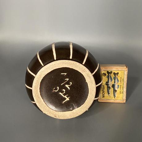 1950's 東ドイツPIESCHE & REIF製 Studio Ceramic ズグラッフィート フラワーべース/DK181