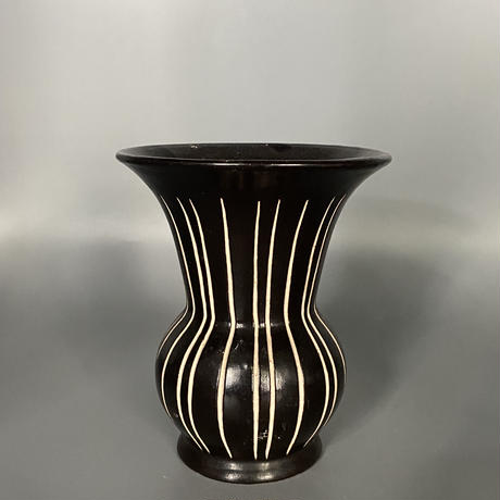 1950's 東ドイツPIESCHE & REIF製 Studio Ceramic ズグラッフィート フラワーべース/DK180