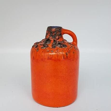 1960's~70's Kreuzkeramik オレンジfat lavaベース /WK080