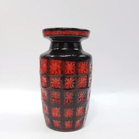 "1960's Bay keramik レリーフモチーフ""Prisma""シリーズ フラワーベース/WK114"