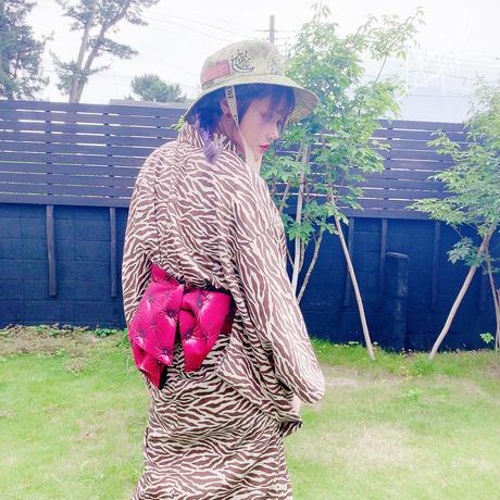 ジブラ柄浴衣セット