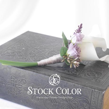 コサージュ*カラーリリィ【No.043】卒業式・入学式・結婚式に*ケース付き