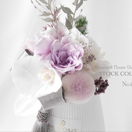 コチョウランとクチナシの和モダンアレンジ(花器付き)*プリザーブドフラワー*フラワーギフト・仏花に