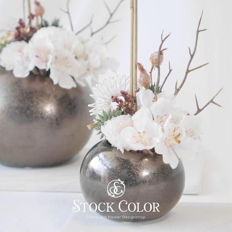 桜の春色和モダンアレンジ(S)*プリザーブドフラワー*桃の節句・母の日・敬老の日などのギフトに