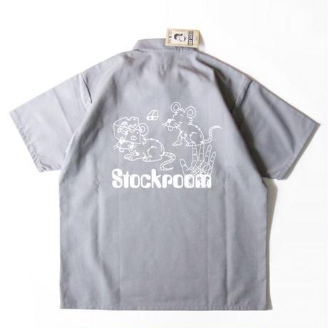 Stockroom x Naoya Koide Half Zip Work S/SL Shirt <Grey>