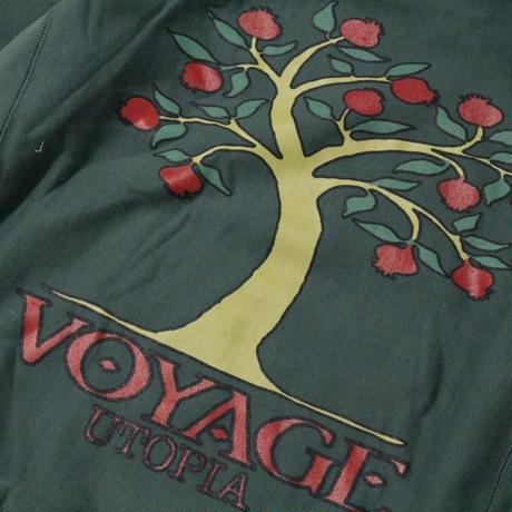 Voyage Pomegranate Hooded Sweatshirt <Pine Green>