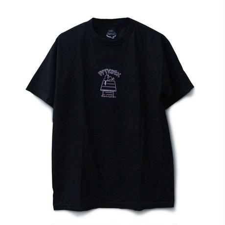PITY SEX DROOPCITY SS TEE BLACK x PINK