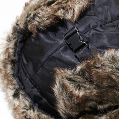 Faux Fur Trooper Hat <Black>