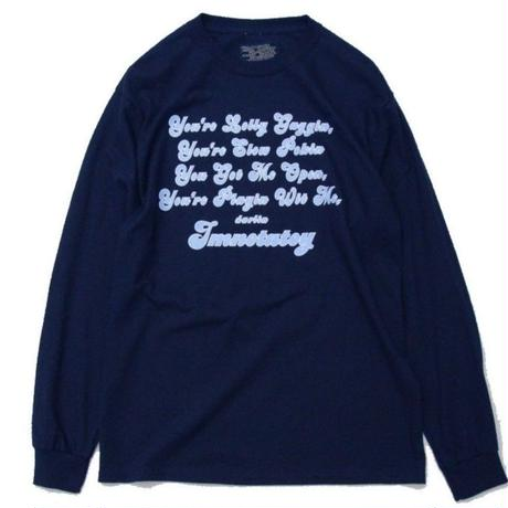 Imnotatoy Long Sleeve Tee <Navy>