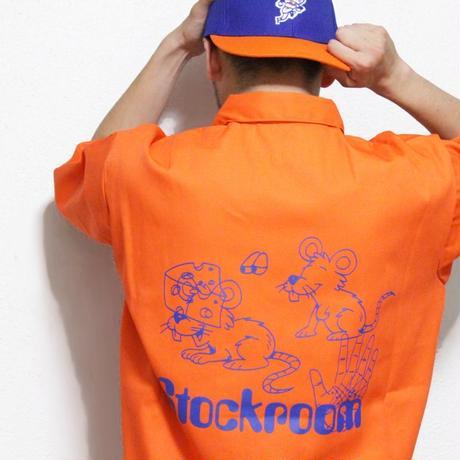 Stockroom x Naoya Koide Half Zip Work S/SL Shirt <Orange>