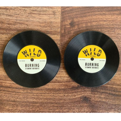 Record Shape Coaster Pair