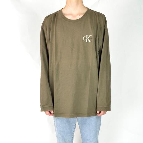 CALVIN KLEIN / L/S T-SHIRTS(USED) COL:KHAKI