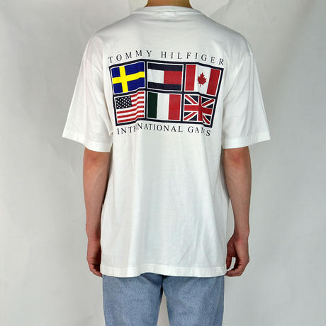 TOMMY HILFIGER / S/S T-SHIRTS(USED) COL:WHITE