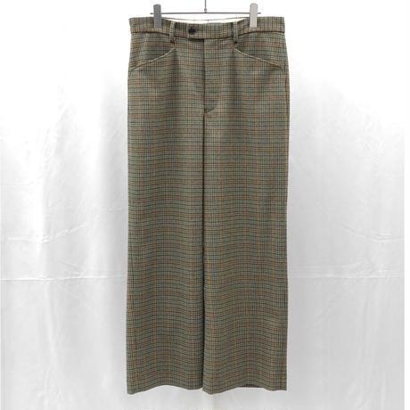 URU TOKYO / WOOL CHECK WIDE PANTS  COL:GREEN
