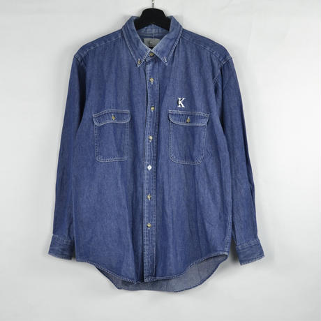 CALVIN KLEIN / DENIM SHIRTS (USED) COL:INDIGO NO.23