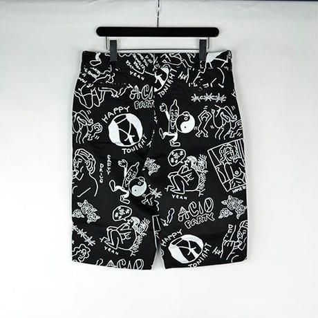 10匣 TENBOX / TENBOX × FACE ACID SHORTS COL:BLACK