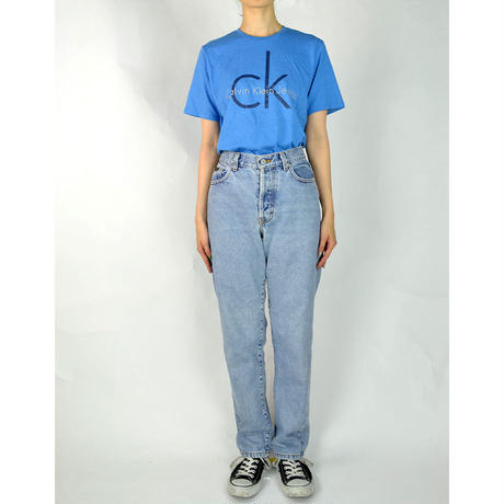 CALVIN KLEIN / S/S T-SHIRTS(USED) COL:BLUE