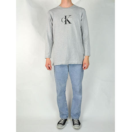 CALVIN KLEIN / L/S T-SHIRTS(USED) COL:GREY
