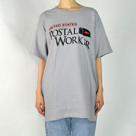 USPS / S/S LOGO T-SHIRTS(USED) COL:GRAY