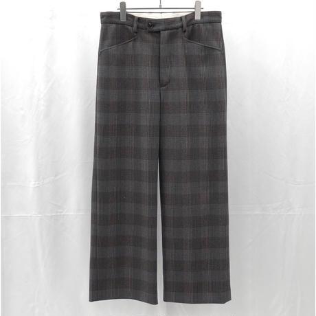 URU TOKYO / WOOL CHECK WIDE PANTS  COL:GRAY