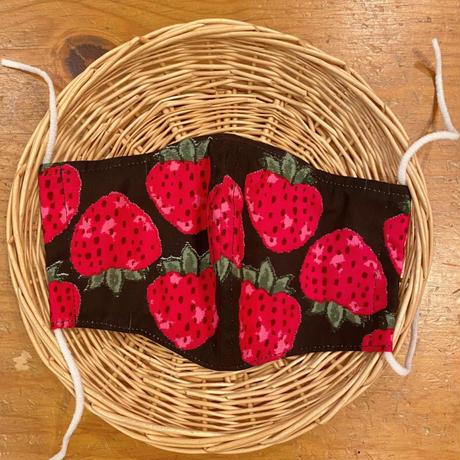 苺柄マスク