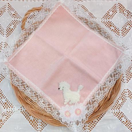 パイルハンカチ ピンク/プードル