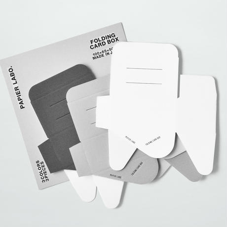 PAPIER LABO. CARD BOX(GRAY/3PCS)