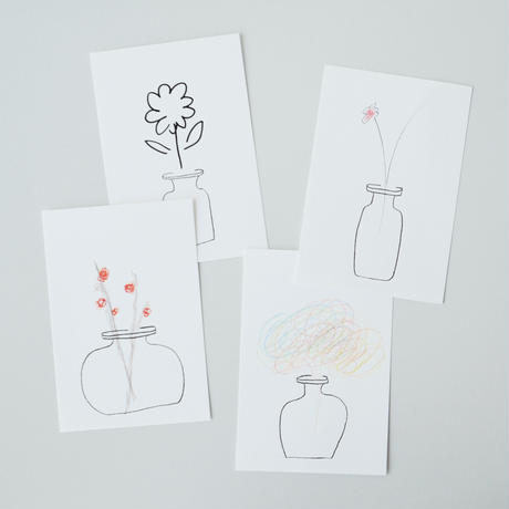 YOKO ANDERSSON YAMANO & PAPIER LABO.〈GLASS BOTTLE CARD〉(4PCS)