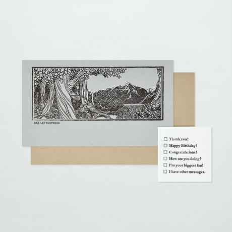 SAB LETTERPRESS CARD SET