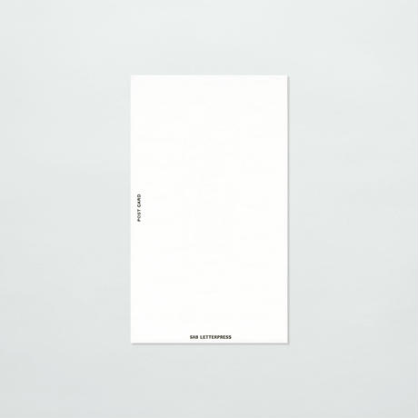 SAB LETTERPRESS FOOT CARD