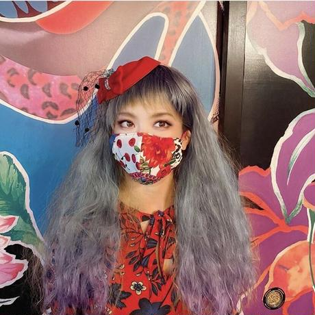 I SPARK Mask(立体マスク)  I-28 red花xヒョウ