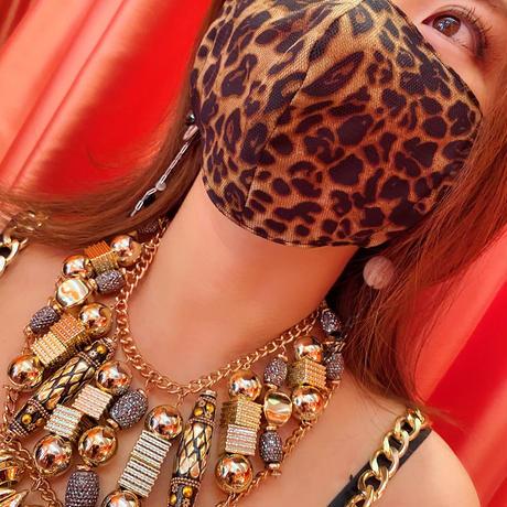 I SPARK  Mask  マスク ヒョウxチュール  I-35
