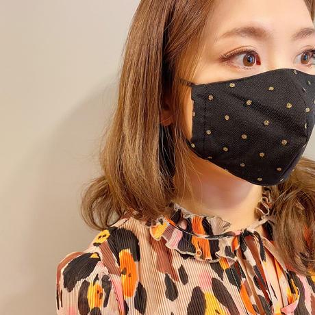 I SPARK  Mask (立体マスク) ブラックxゴールドドット