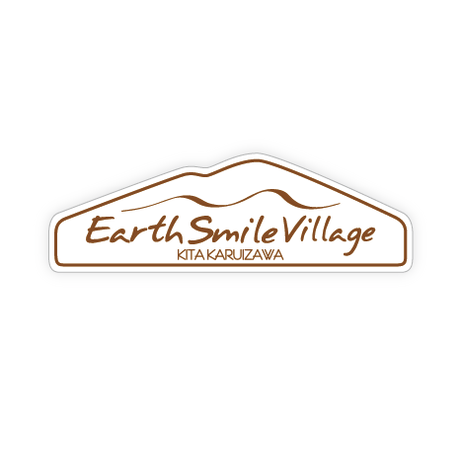 Earth-Smile Village ステッカー ロゴ