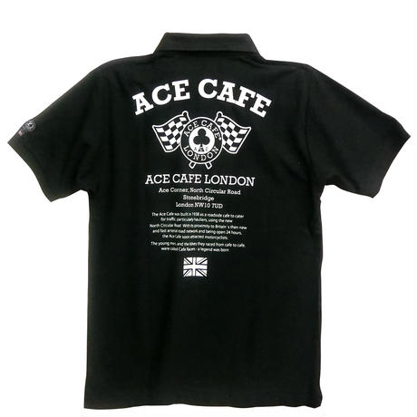 AA003DP / ACE CAFE ドライコットンPOLO フラッグ