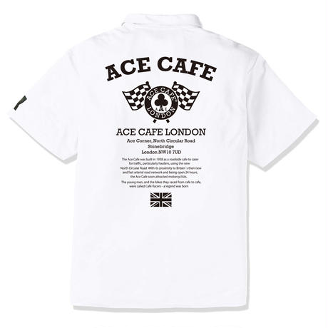 AA004DP / ACE CAFE ドライPOLO FLAG
