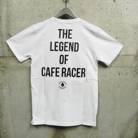 14ACTS-003 / Tシャツ THE LEGEND OF CAFE RACER (ホワイト)