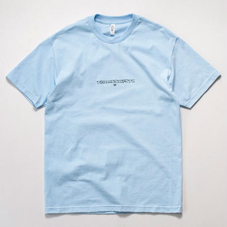 DOGEAR RECORDS tee (Powder blue × Navy)