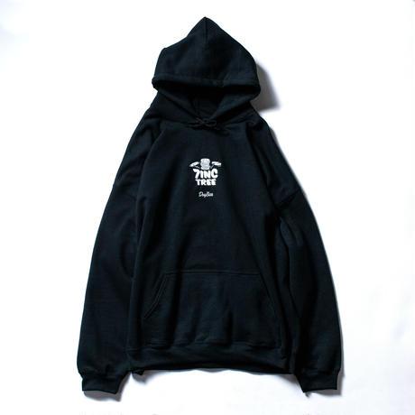 7INCTREE VINYL LOGO hoodie  (Black × White)