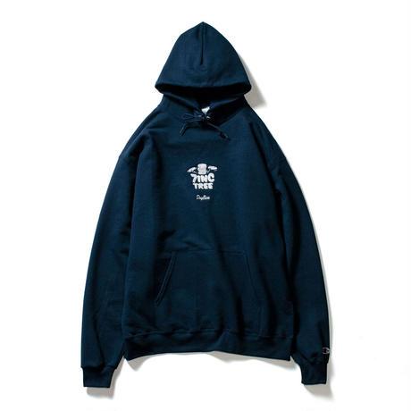 7INCTREE VINYL LOGO hoodie  (Navy × White)