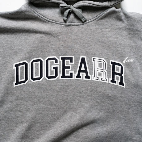 Dogear Records Hoodie  Gray (White × Navy)